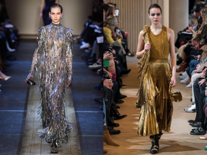 Left: Alexander McQueen Fall/Winter '19   Right: Altuzarra Fall/Winter '19