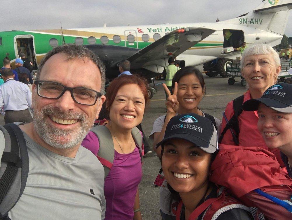 Team ABC Ready to Begin their Journey at Kathmandu Tribuhvan Airport