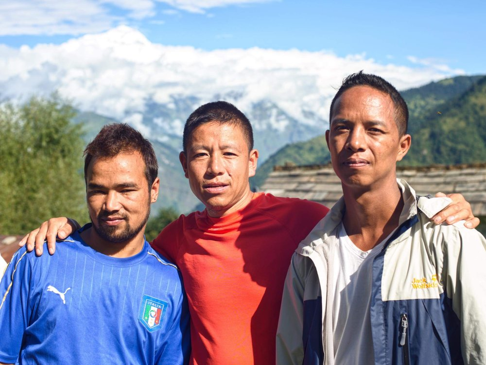 Our Three Porters - Laxman, Dil and Mani