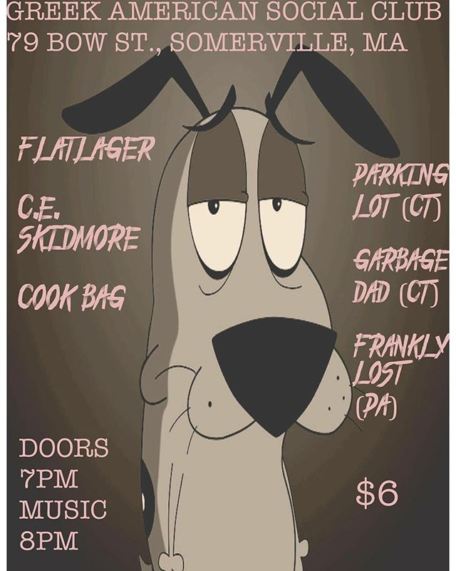 Rippin it up tomorrow night with the beauties in @flatlagerband @parkinglotctofficial and a couple other killer bands. THURSDAYS DON'T HAVE TO SUCK//GET TO THE GIG ⚡️⚡️ #bostonmusic #punkshow #sommerville #wemf