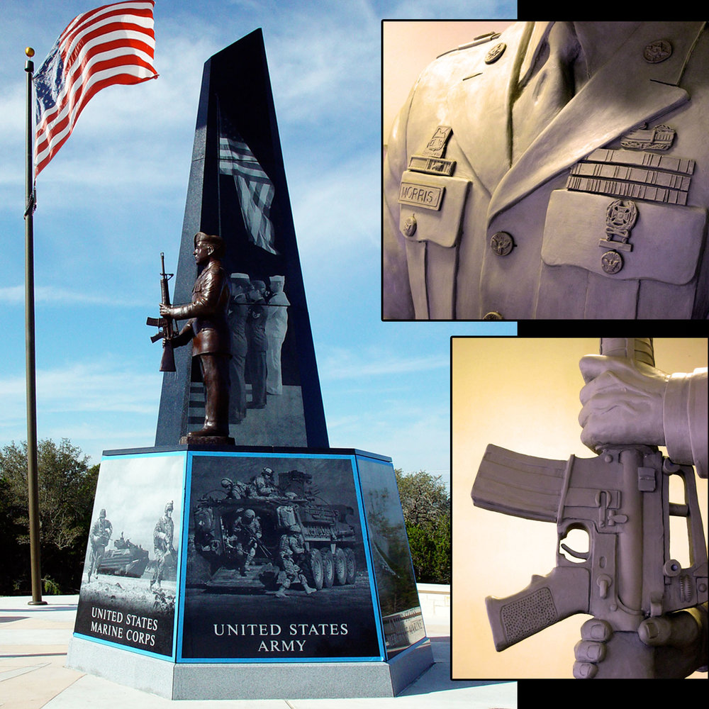 Cedar Park Veterans Memorial by Gregory Beck