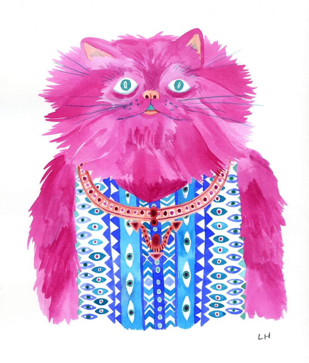 Pink Fashion Cat