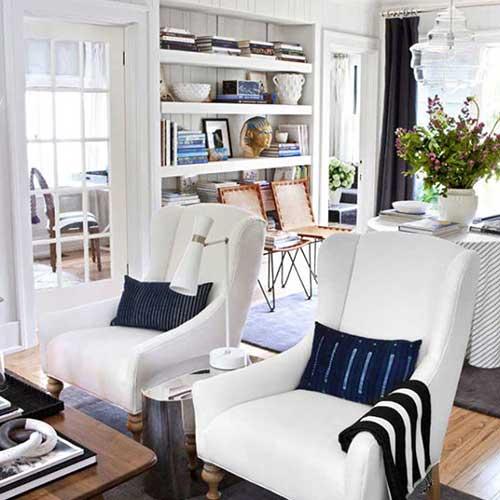 ADAMS' HOME IN HOUSE BEAUTIFUL