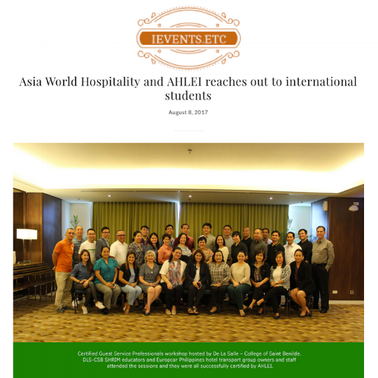 IEVENTS.ETC • AUGUST 8, 2017 • VIEW FULL ARTICLE:  http://ieventsetc.com/2017/08/08/asia-world-hospitality-ahlei-reaches-international-students/