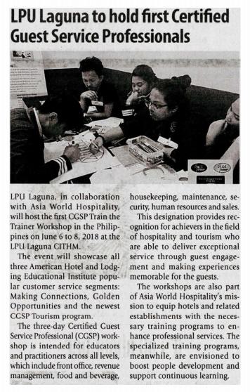 Manila Times - May 10, 2018