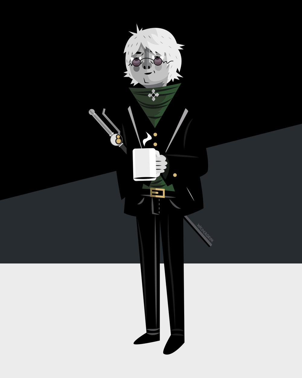 Professor Ozpin from the Rooster Teeth series RWBY