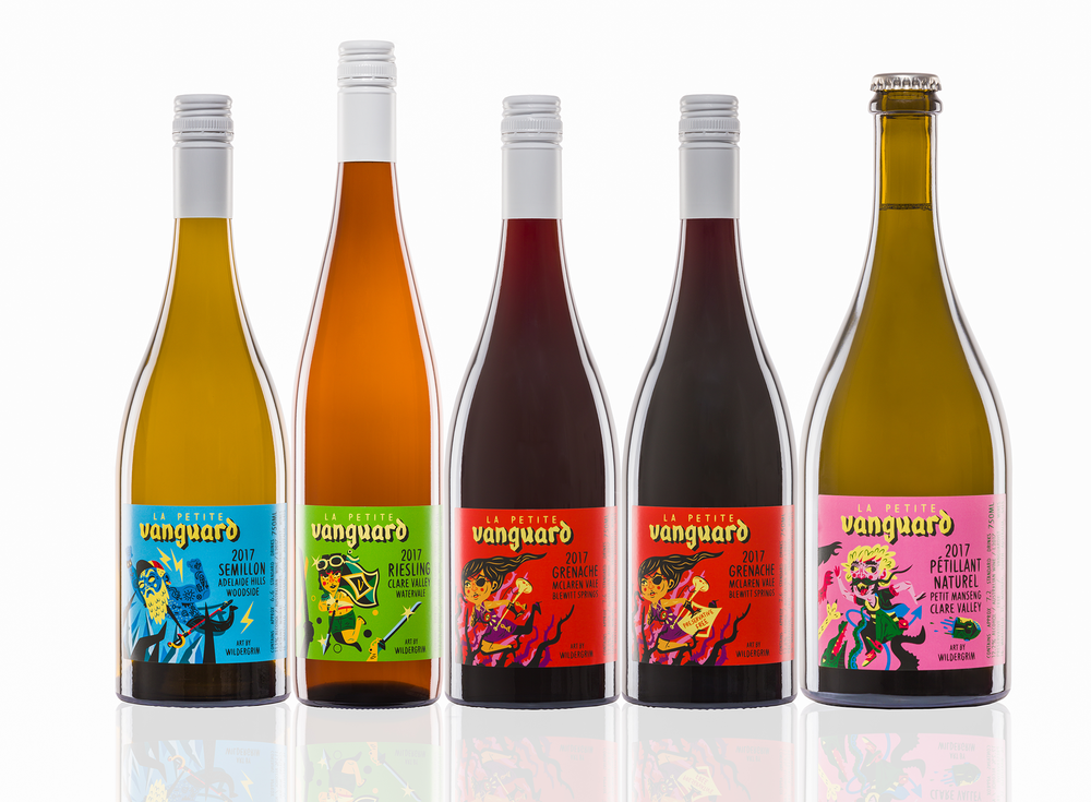 Wine labels for  La Petite Vanguard .
