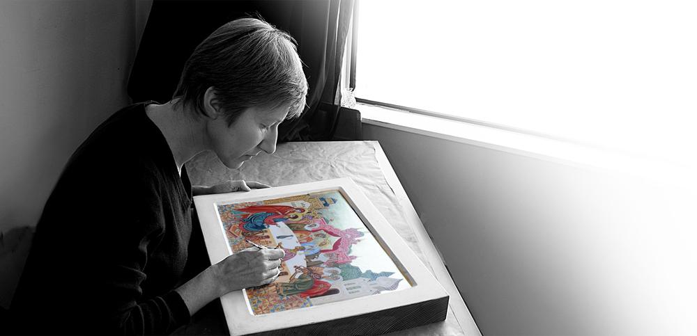 Icon painter, egg tempera artist, educator