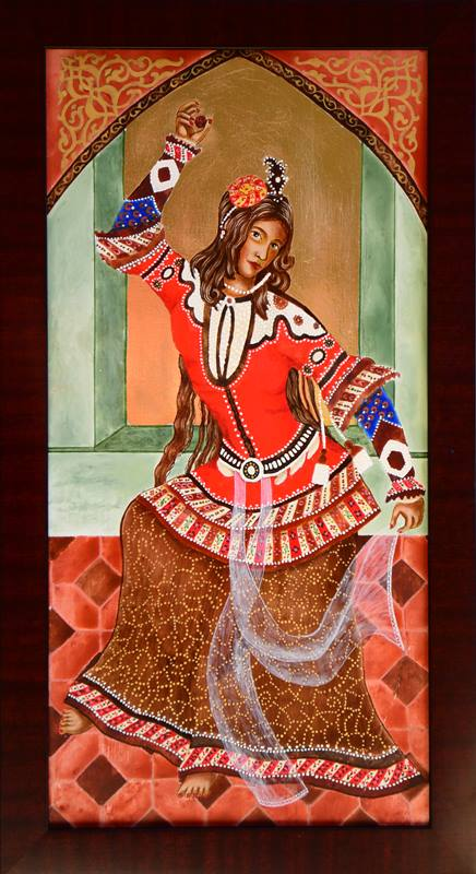 Lady Dancing With Castanets