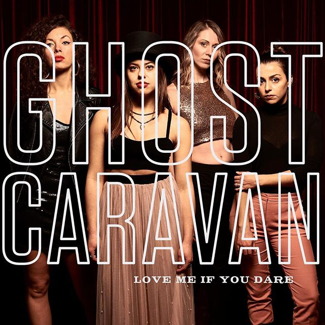 We're excited to announce our first release of 2019, the @ghostcaravan single Love Me If You Dare which will hit all the usual online platforms in two weeks, on February 15th! We're particularly excited about this single because @shainasb co-wrote the song with Martha Johnson and Mark Gane of #marthaandthemuffins who had an international hit in the 80's with their song #echobeach It also marks the first time that the entire live band played together in the studio. Thanks to @julianaeye for the #keyboards  @michello____ for the #cello and @missriegz for the #drums and #percussion They were joined by @rachaelcardiello on #viola and @_michaelmcdonnell on #bass Special thanks to Stephen Koszler for #recording the tracks at @revolutionrecording @howiebeck_ for #mixing at Studio H, João Carvalho and @brylowemastering at @joaocarvalhomastering @_jasonsc for the photo and @julianaeyeco for the graphics and design. The group will also be playing a single release show on February 15th at the @rivolitoronto with @thenurseryy and @goodluckshopband TICKET LINK IN BIO. #indiemusic #livemusic #newmusic #newmusicalert #torontomusic #womeninmusic #thefutureisfemale #femaleempowerment #girlgang #indiepop @spotify @spotifycanada @stem
