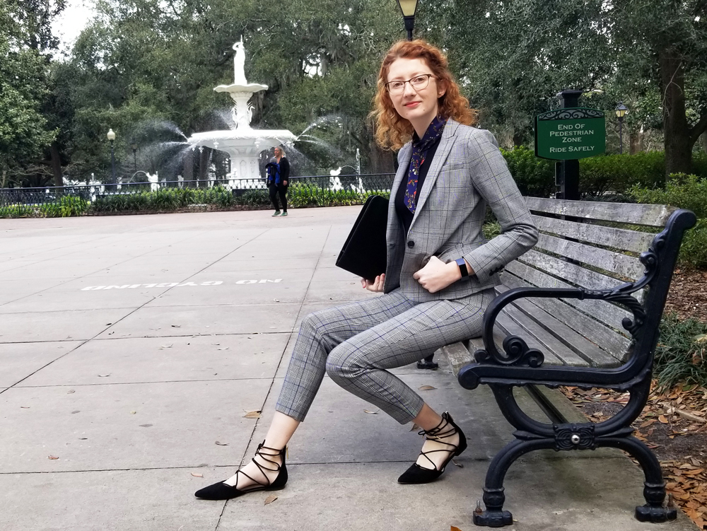 January 2019: H. E. Ramage in Forsyth Park of downtown Savannah, GA