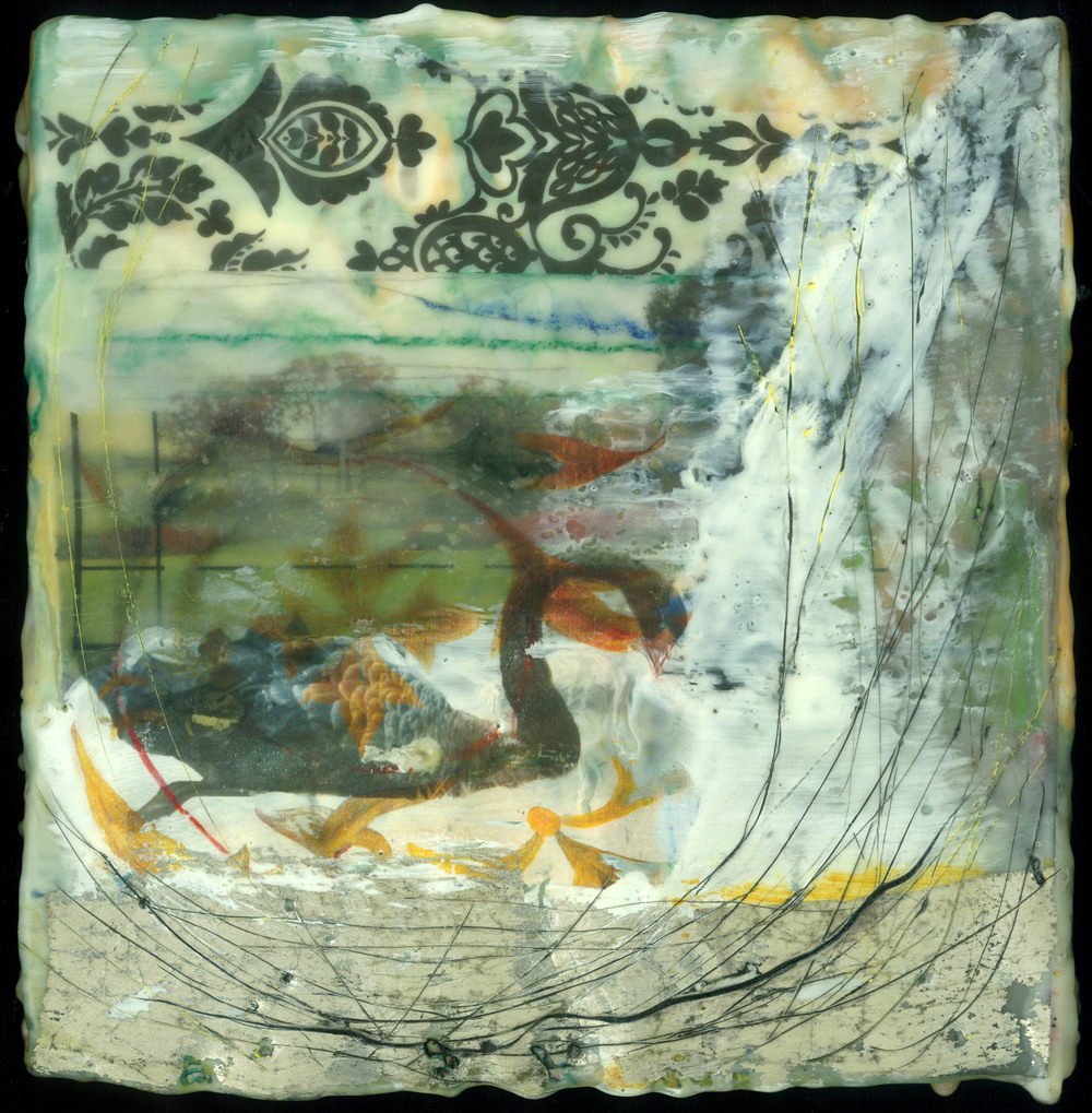 Flying Swan In Nest