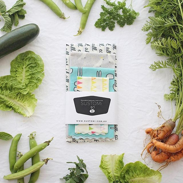 Have you tried reusable food wraps? We get bee-hind @sustomi - link in bio! 🐝