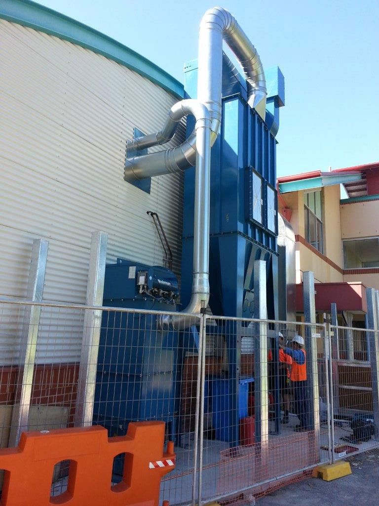 High school dust extraction system