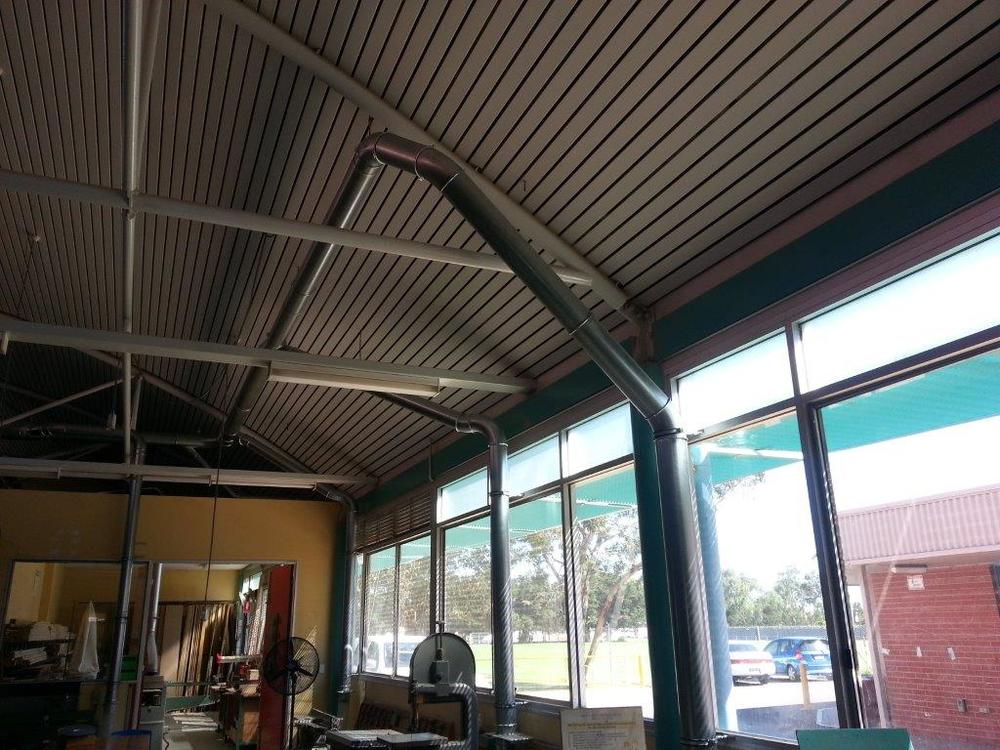 Modular ducting on woodworking systems
