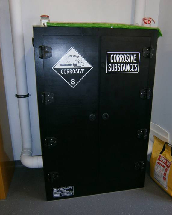 Corrosives cabinet (HDPE)