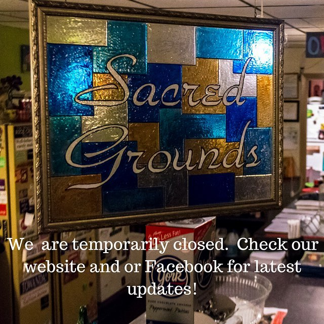 We are temporarily closed.  Check our website and or Facebook for latest updates!  #sacredgroundstampa #sacredgrounds #arts #music #comedy #temporarilyclosed #tampa #florida