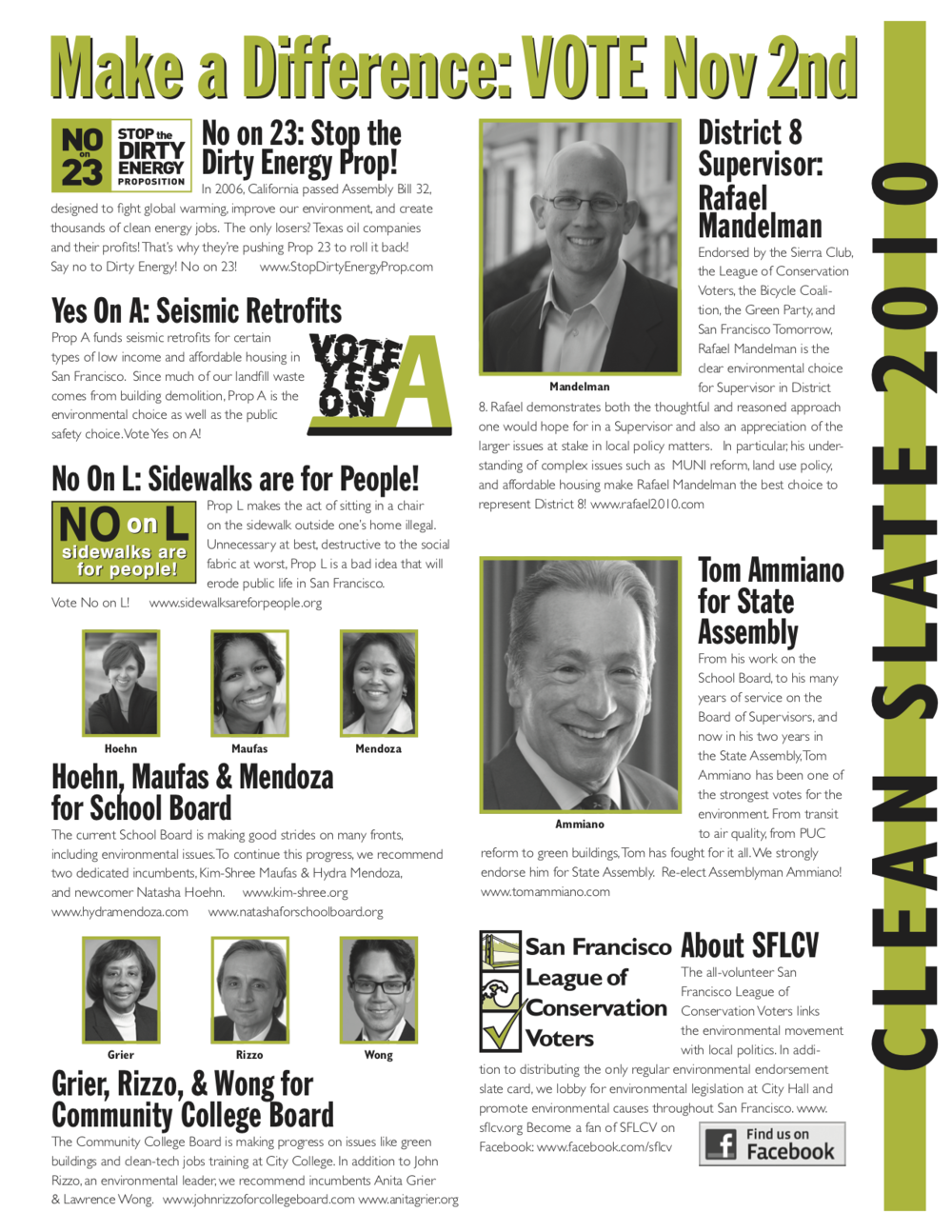 November 2010 District 8 SFLCV slater mailer