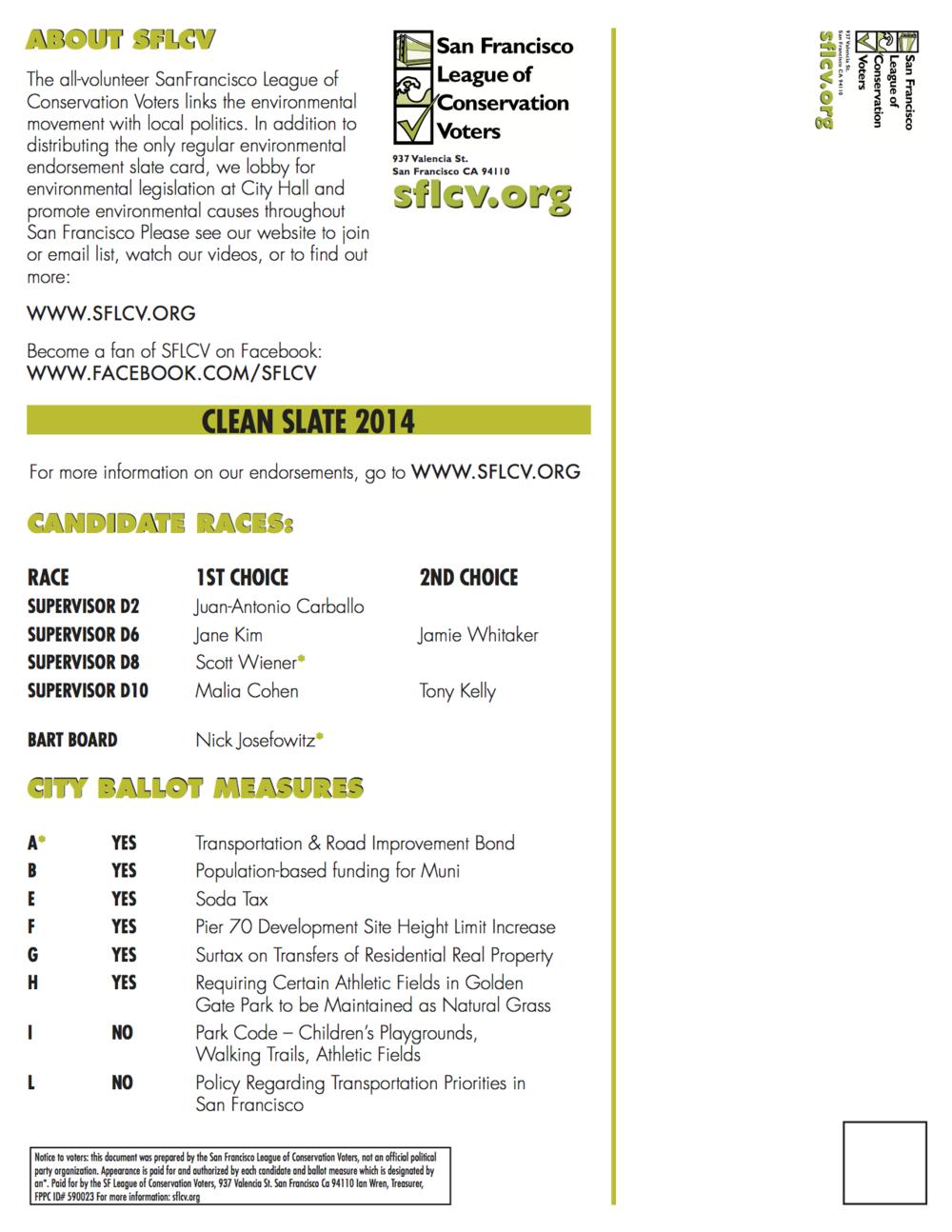 November 2010 District 6 SFLCV slater mailer
