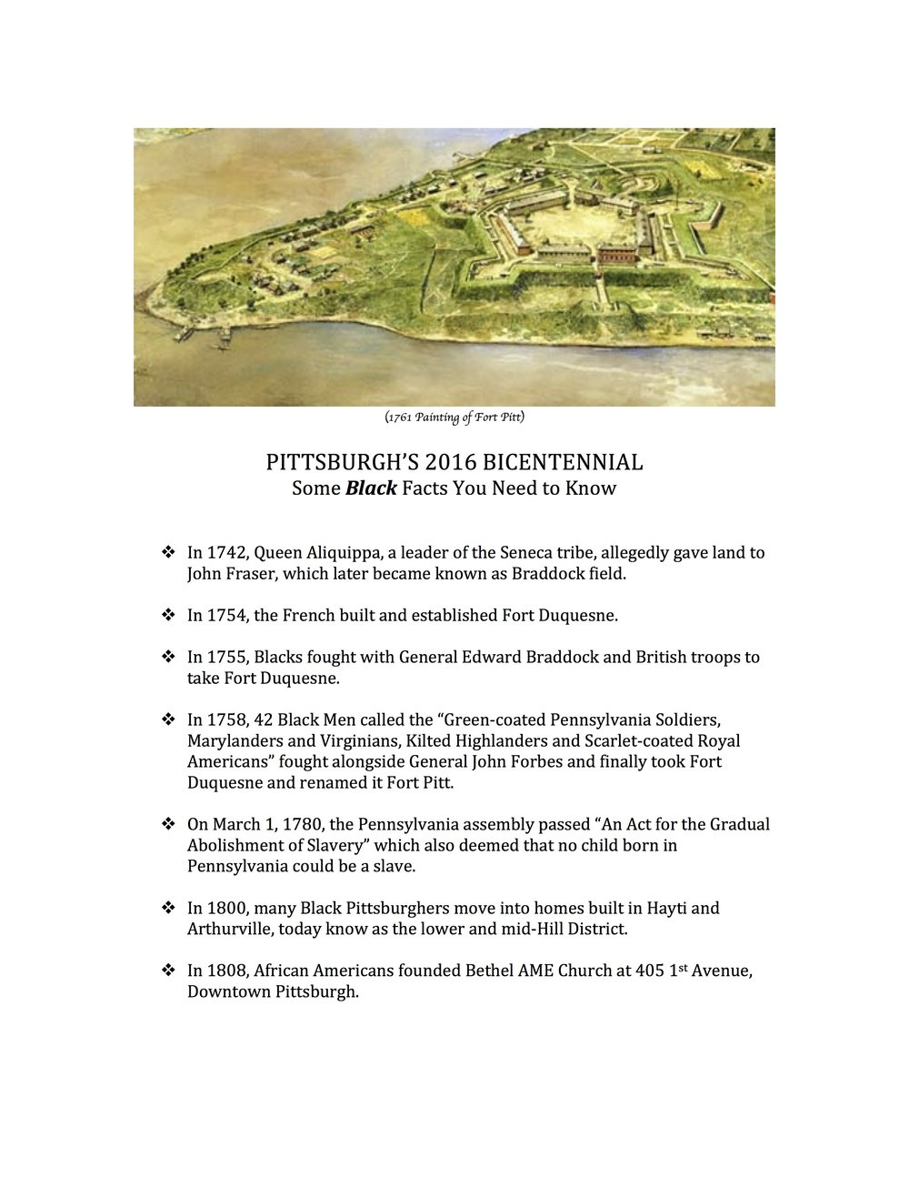 PGH BLACK FACTS YOU NEED TO KNOW