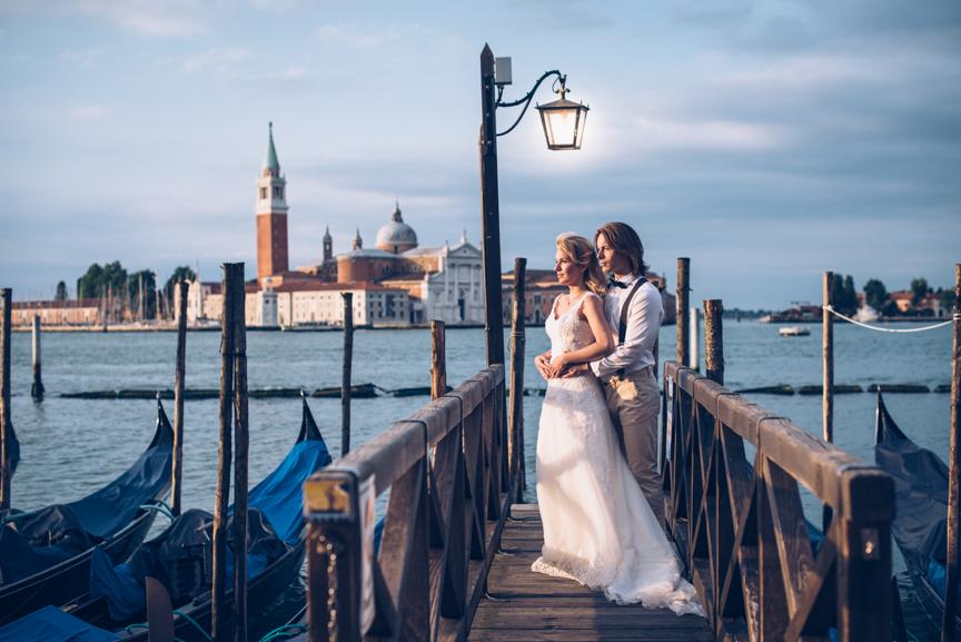 Hochzeitspaar in Venedig
