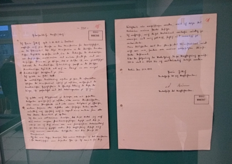 Pledge signed by Stasi agent, swearing to be loyal to the party and state until death