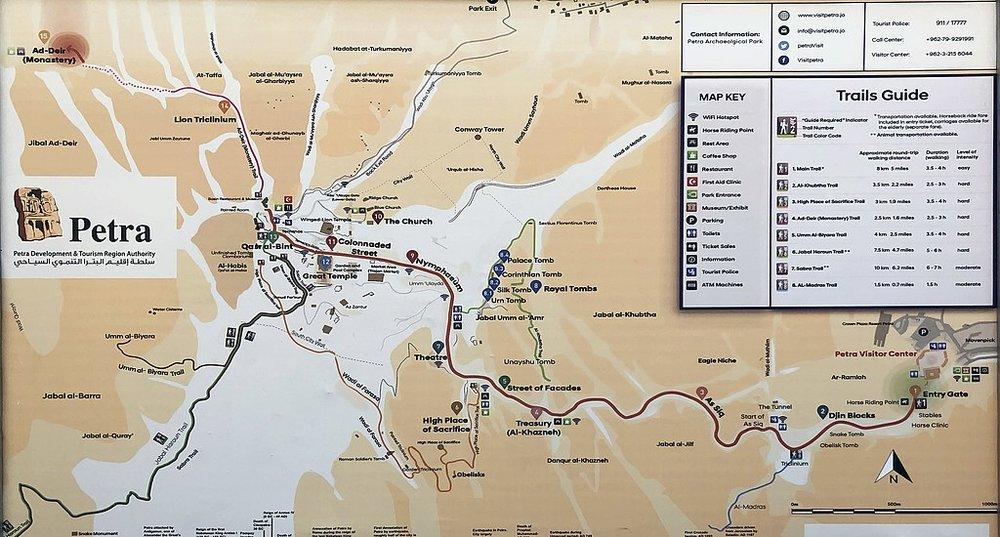 Petra map - courtesy of Wikipedia