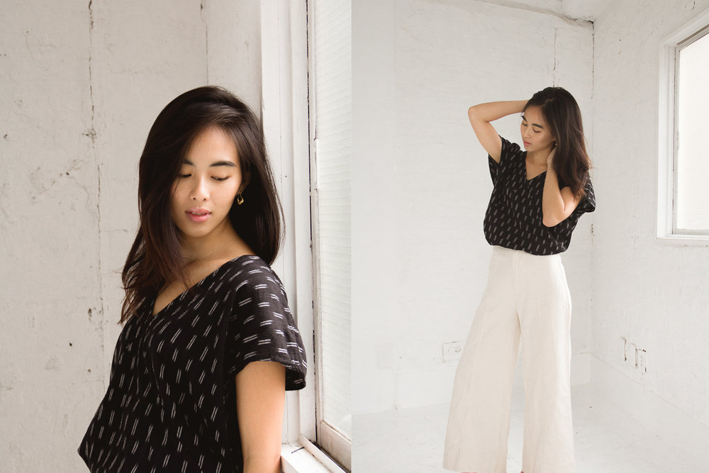 Avery Top / Lucia Ankle Pants (white)