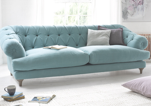 The Bagsie sofa from Loaf is definitely one for lounging in and this beautiful colour sums up our pastel quest perfectly!