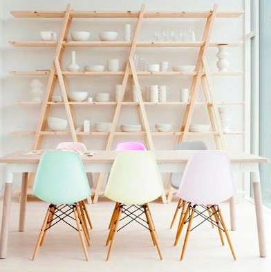 Pastel Eames chairs