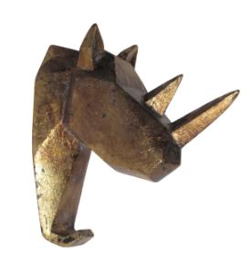 Gilded rhino hook