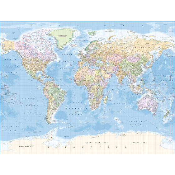 B&Q world map mural - available  here