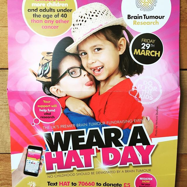 @theoldflowershop are happy to be part of #wearahatday for Brain Timor research