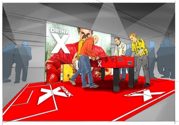 Une action originale de promotion, un stand sponsoring ou un tapis imprimé avec des logos? Nous imprimons tout motif en full color  sur notre tapis événementiel!