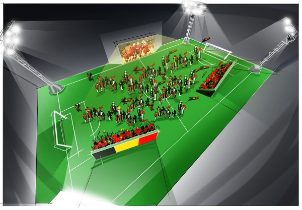Un stand de promotion du sport ou un terrain de foot temporaire sur place? Avec notre  gazon artificiel , c'est très facile!