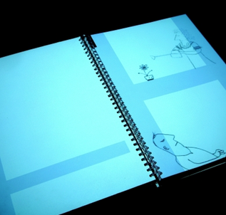 THE DAY LIFE GOT TOUGH An animated book brought to life as you turn the pages through the story with animations. The story and book though not only go forward, but once you reach the end, start going backward at which point the story starts to fold in on itself.