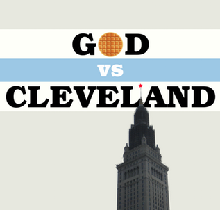 GOD VS CLEVELAND What if the characters in the book you were reading called you? Or sent you messages telling you that whatever you were reading was wrong? And what if that book was about The Soviet Union occupying Cleveland in 1984 and nobody doing much about it?