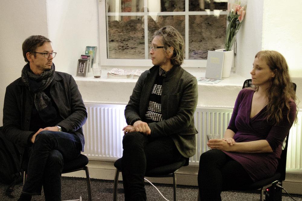 Från vänster: Henrik Frisk, Björn Norberg och Åsa Stjerna. ©Marcus Wrangö/Audiorama