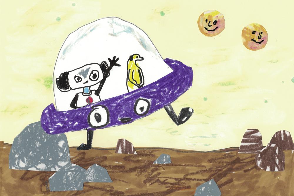Sagan om Roboten Gertrud . Illustration: ©Astrid Wrangö