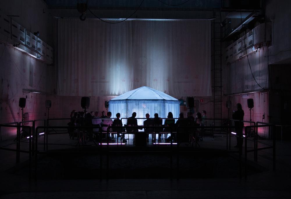 Bastard of Allegory  – premiere in R1 Reaktorhallen, Stockholm (2019). ©Bodil Bolstad
