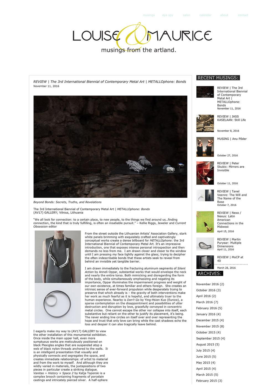 REVIEW _ The 3rd International Biennial of Contemporary Metal Art _ METALLOphone_ Bonds _ Louise & Maurice-1.jpg