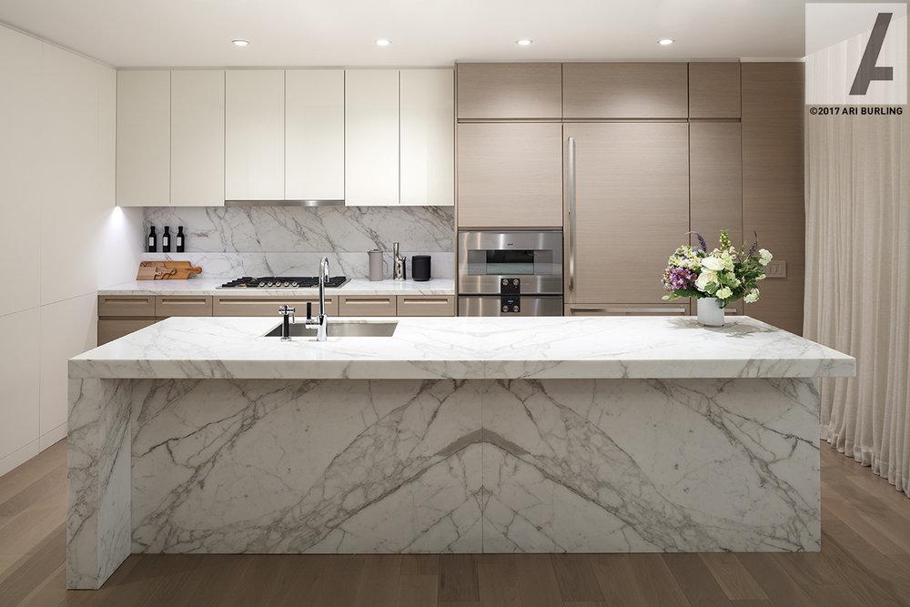 Kitchen, Two Waterline Square | Spectrum Kitchens | ©2017 ARI BURLING