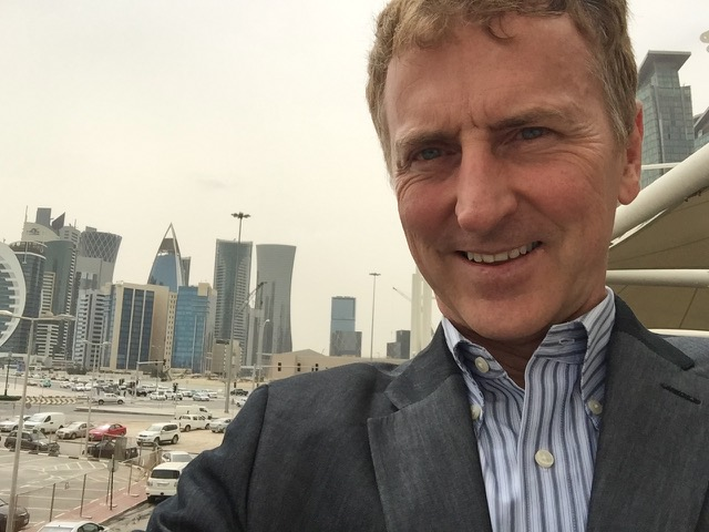 A selfie taken in Doha, Qatar, April 2017