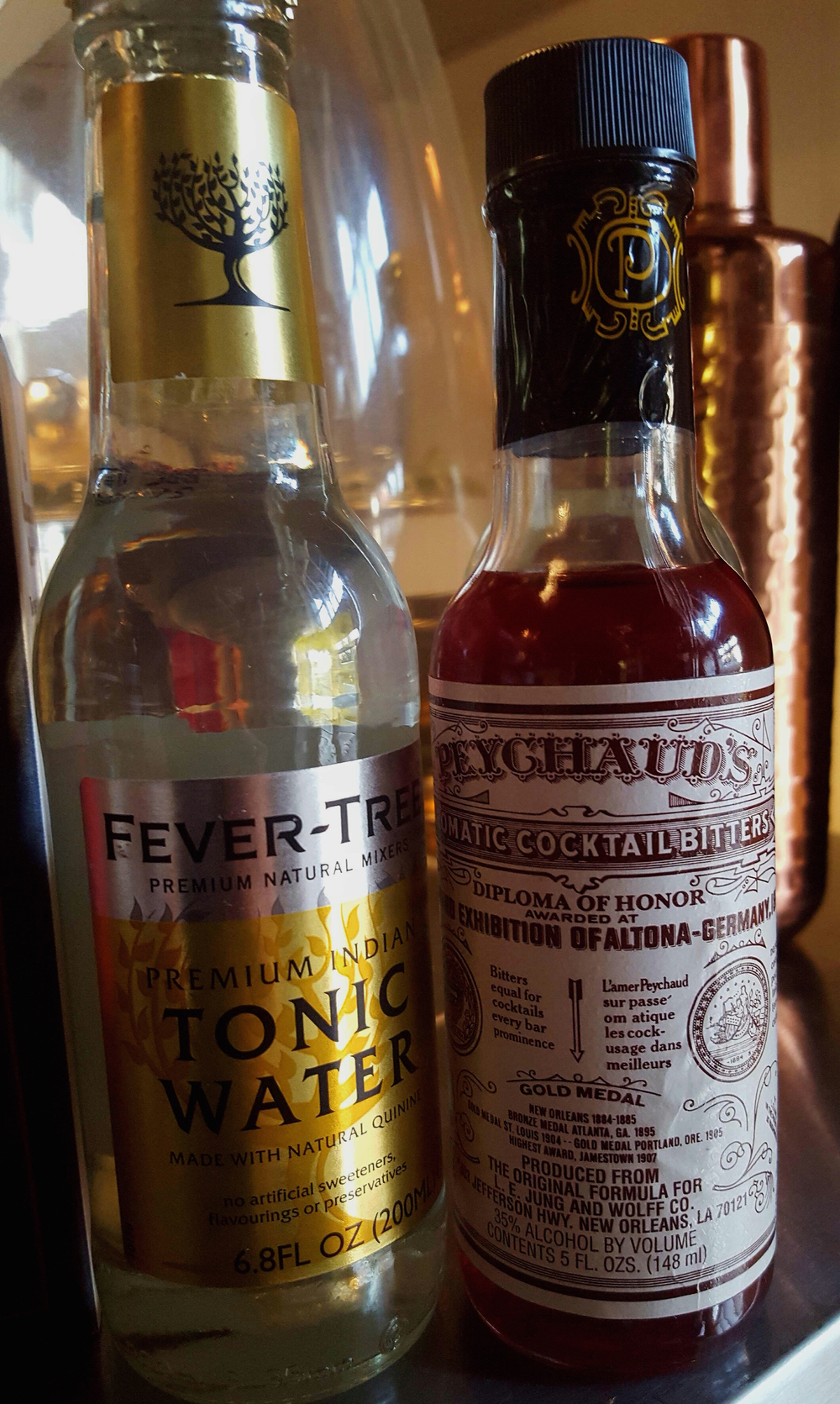 Fever Tree Tonic & Peychaud's Bitters