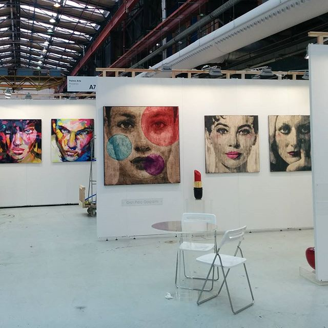 The theme appears to be FACES @affordableartfairnl #AAFams #amsterdam #whatsupwiththat