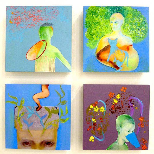 Little paintings by Maartje Strik tell interesting stories - €240 a piece at Galerie de Ploegh, Booth E11 at the Affordable Art Fair @maartje_strik #galeriedeploegh @affordableartfairnl #AAFams #takearthome