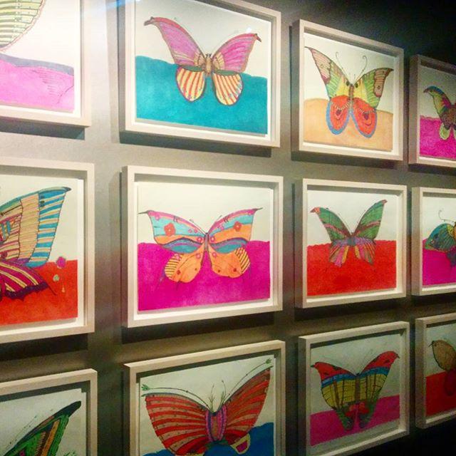 Zheng Donghui's butterflies beat Hirst's hands down #zhengdonghui @museumhetdolhuys #outsiderart #outsiderartmuseum