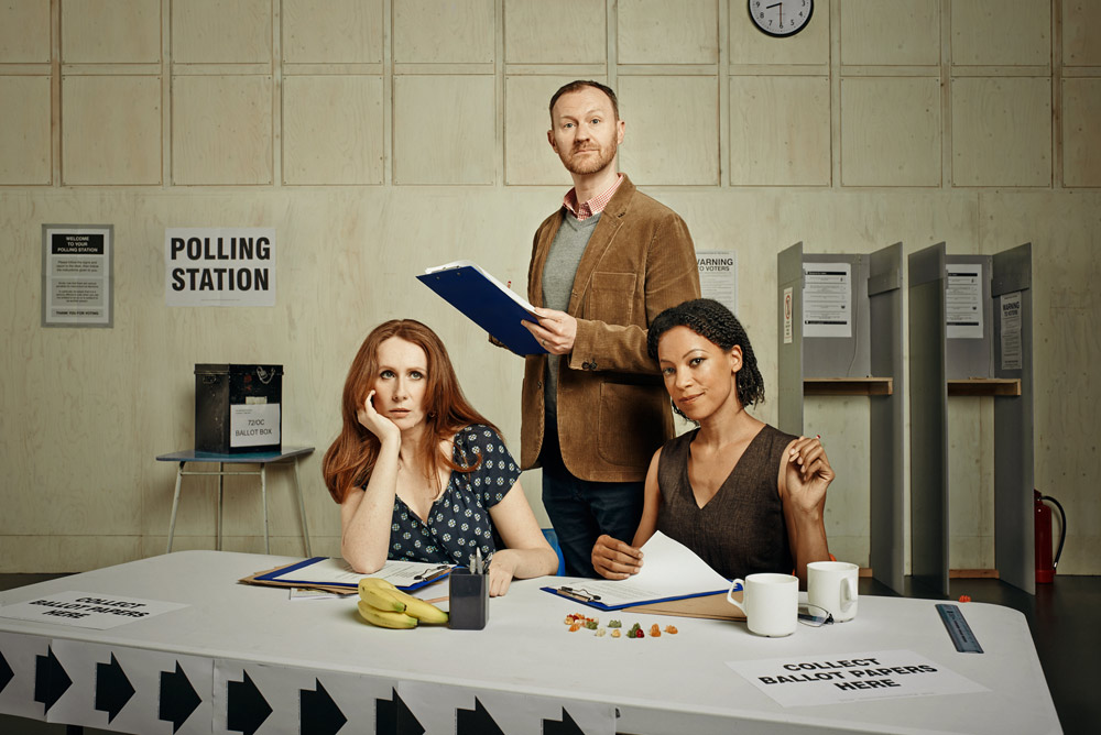 The Vote  / Donmar Warehouse / More 4 / May 2015  Written by  James Graham   Directed by  Josie Rourke   Cast included  Judi Dench  /  Catherine Tate  /  Nina Sosanya  /  Mark Gatiss  /  Hadley Fraser  /  Jade Anouka  /  Rosalie Craig  /  Timothy West  /  Jude Law  /  Nicholas Burns  /  Finty Williams  /  Bill Paterson  /  Myanna Buring   ★★★★★ Telegraph  ★★★★ Guardian  ★★★★ Financial Times   ★★★★ WhatsOnStage