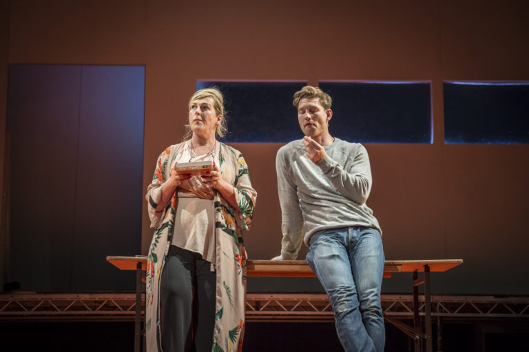 """"""" Madhouse transitions and balances the funny with the dark excellently. Strong performances by Barry Kinsella and Katherine Lynch easily captivate the audience throughout .""""   Meg.ie"""