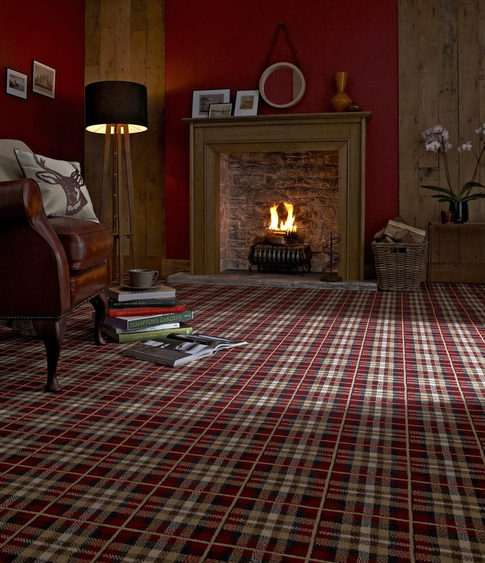 The bold Tartan design from Lifestyle floors